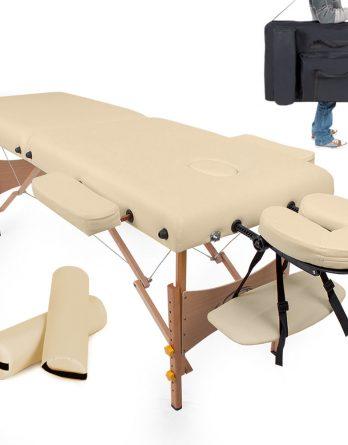2 delna prenosna lesena masažna miza za vsakodnevno uporabo