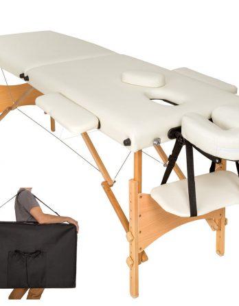 Lesena prenosna masažna miza